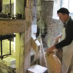 Milling Flour at Lyme Regis Town Mill (04/Apr/15).