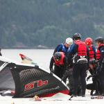 Aerial Kiteboarding teaching a Crash Course Lesson on the Squamish Spit