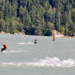 Kiteboarding at the Squamish Spit with Aerial Kiteboarding