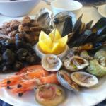 seafood platter at the Lobster