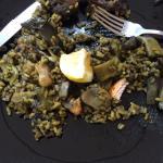 Paella mixta valenciana, mas bien alcachofada, nada rica