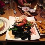 Lovely seafood platter .