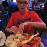 Crab legs at Big Daddy's