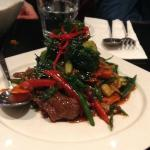 New Zealand Lamp with chilli basil sauce