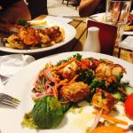 Chilli calamari and Seafood Basket
