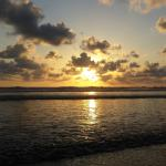 Playa Guiones at sunset