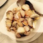貝の白ワインバターソテー