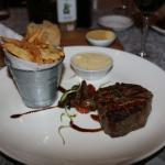 Fillet steak, slightly under-done but great