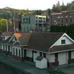 Hotel overlooks a restored rail depot
