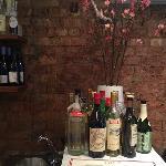 Bar and floral arrangement