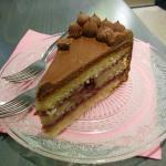 Tarta de mora y chocolate