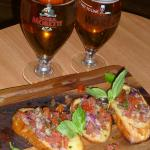 Good beer and proper bruschetta to start