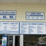Lago's ice cream choices - April 2015