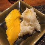 Try the mango sticky rice