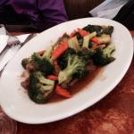 Yak with broccoli and carrots