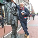 Dublino, con James Joyce in O'Connell St. 04-06-2014