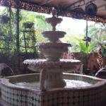 BEAUTIFUL FOUNTAIN IN THE COVERED PATIO AREA