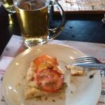Pizza a la parrilla, última porción...