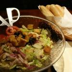 Salad and Breadsticks with Alfredo sauce