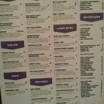 menu at Warung