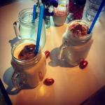 Smoothie, homemade lemonade and Vanilla Milkshake.