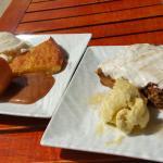 Gâteau carotte, Canelle et glace vanille, Humburger de ribs de porc