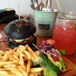 Black burger and mock-tails :)