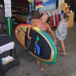 Happy moment.. leaving the fantastic shop with te board