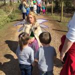 Fairy talking to the kids