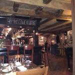 Bar area tables.
