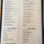 Menu page 4 - drinks/coffees