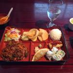 Spicy pork lunch box.