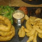 Steak with peppercorn sauce - very nice