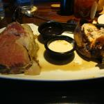 Prime rib and sweet potato