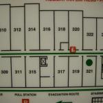 Map of floor...room 321 has green dot. Good location.