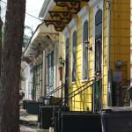 Colorful neighborhood homes
