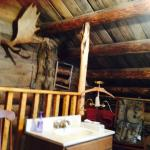 """""""Jack London's Cabin""""2nd floor bannister and convenience sink"""