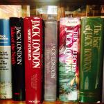 """A selection of Jack London's books in """"Jack London's Cabin"""""""