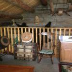 """Jack London's Cabin"" 2nd floor sleeping area"
