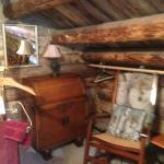 """""""Jack London's Cabin"""" 2nd floor, vintage desk & rocking chair"""