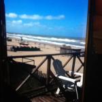 Vista del balcón a la playa