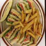 Turkey club sandwich!! Yummy!