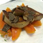 Papillota de foie amb carbassa i tòfona.