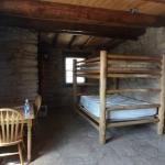 Inside cow cabin-double bunk bed