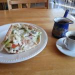 Falafel sandwich & Arabic Coffee