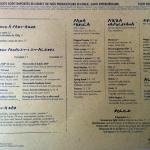 Cool menu good prices