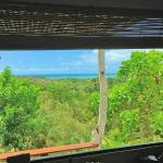 sea view and Atlantic Forrest view from inside of Moreré Bungalow