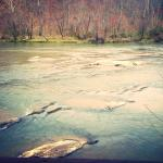 Listening to the water of the French Broad River was so relaxing