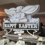 Ice carving at East buffet