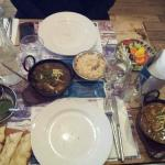 Railway Lamb Curry with Pilau rice and Seafood Curry